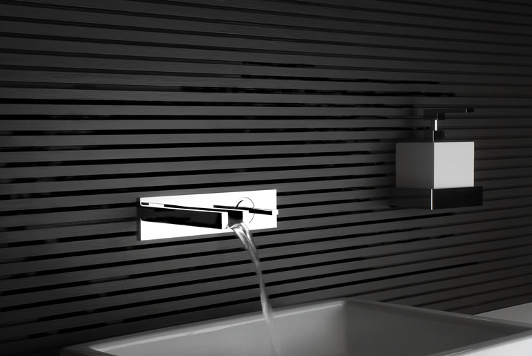Ftl design gessi badarmaturen for Cascata a muro